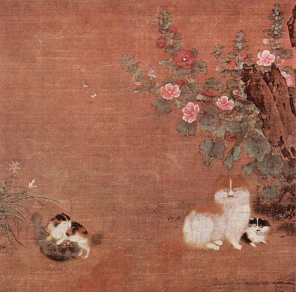 Коты в саду, китай 12 век