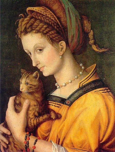 Франческо Дабертино Верди Дама с кошкой