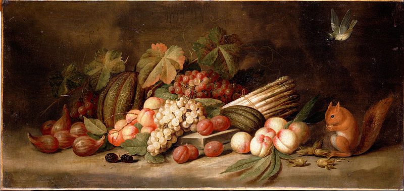 800px-Gillemans,_Jan_Pauwel_the_elder_-_Still_Life_with_Fruit_and_a_Squirrel_-_Google_Art_Project