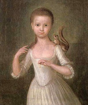 1770 Cosmo Alexander (1724-1772). Girl with a Squirrel.