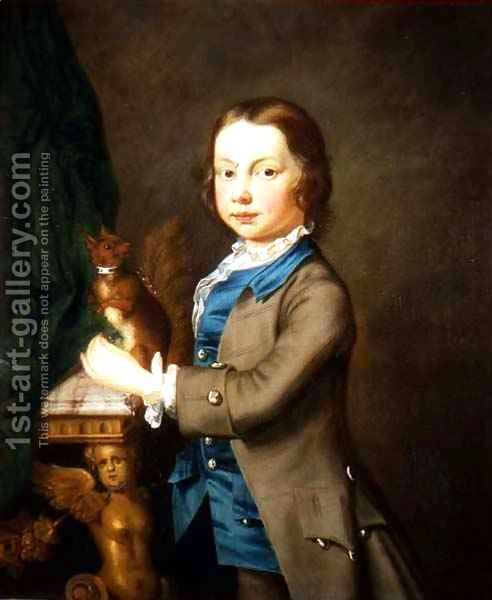 A-Portrait-Of-A-Boy-With-A-Pet-Squirrel