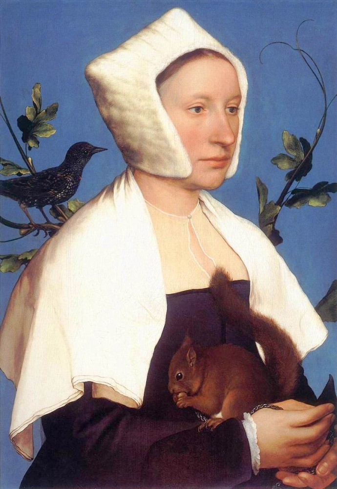Portrait-Face-Painting-People-with-Animals-Lady-with-a-squirrel-690x1000