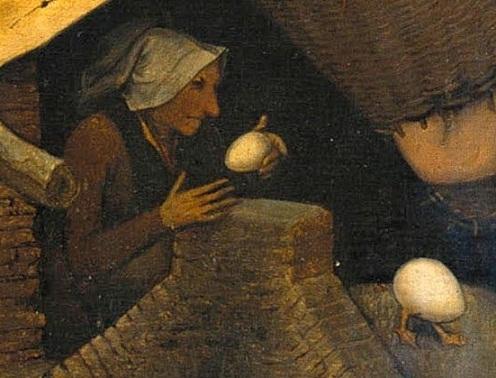 40. Брать куриное яйцо и оставлять гусиное