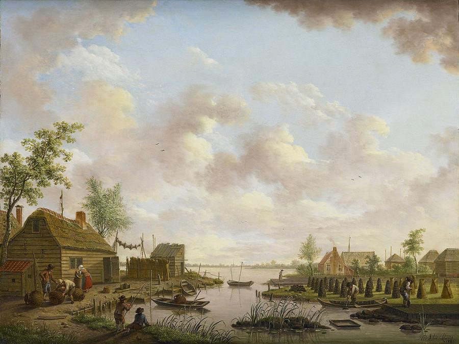 02 б Hendrik_Willem_Schweickhardt_-_Торфянник, 18 век