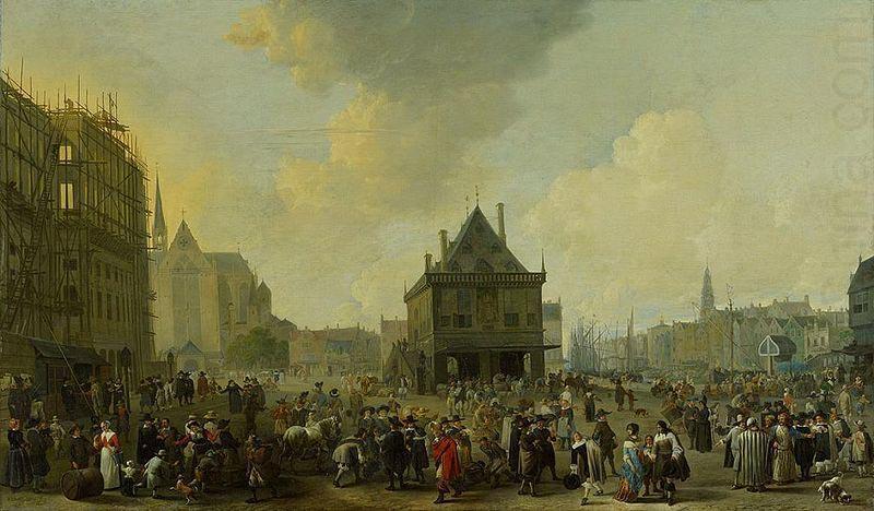 02 щ Йохан Лингельбах Площадь Дам в Амстердаме 1656