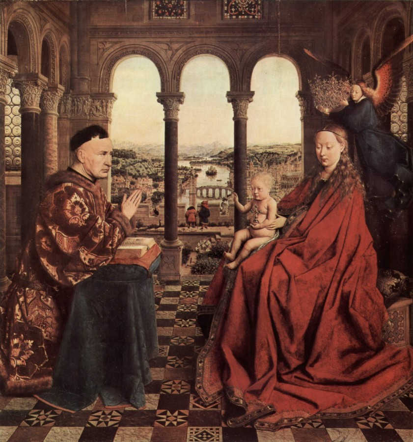 5 Jan_van_Eyck Мадонна канцлера Ролена 1435