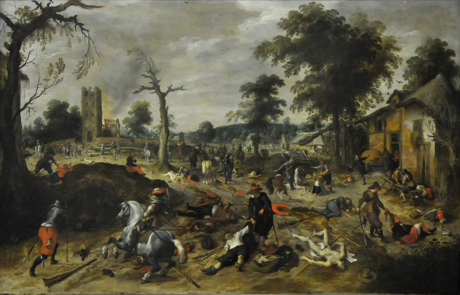15 Разграбление деревни Воммельгем Sebastiaan_Vrancx_(1573-1647)_