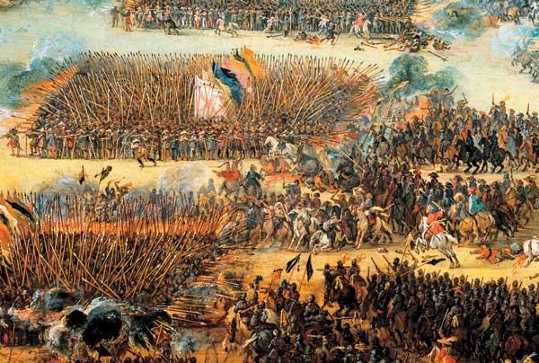 16 Питер Снаерс Битва Голландской армии с испанцами