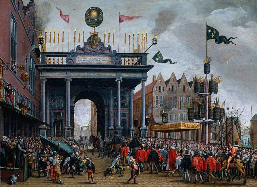 17 Въезд герцога Франсуа Анжуйского  в Антверпен в 1581 Монограмист МХВХ