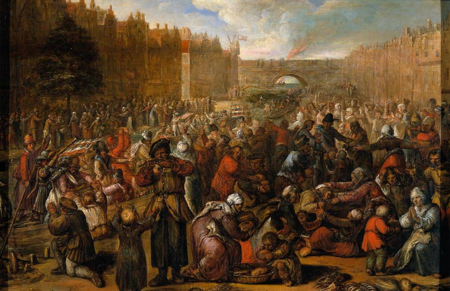 20  э Отто ван Веен Торжество по случаю снятия осады Лейдена
