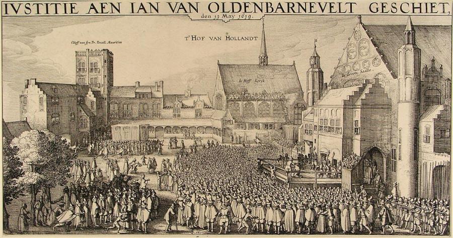 20б Казнь _Johan_van_Oldenbarnevelt в Гааге  1619,_Claes_Jansz._Visscher