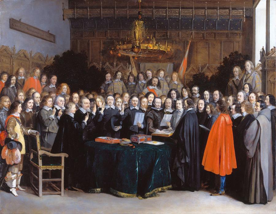 21яя Мюнстерское соглшние _(Gerard_Terborch_1648)