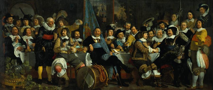 21яя Петер Хальс Жители Амстердама празднуют Мюнстерский мир