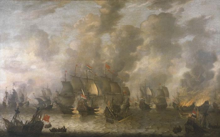21яяя Сражение у Схевенингена Ян Абрахамс Баарстратем, 1653