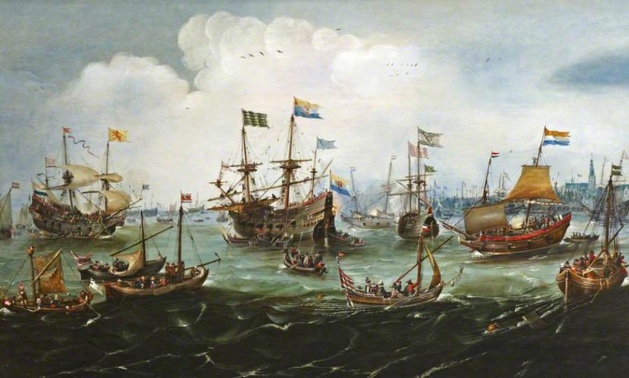26 а Хендрикк Корнелис Врум Возвращение экспедиции ОИК 1599