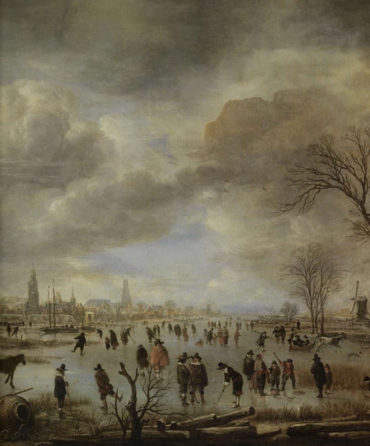 01 арт ван дер Нер вид на реку зимой серед 17