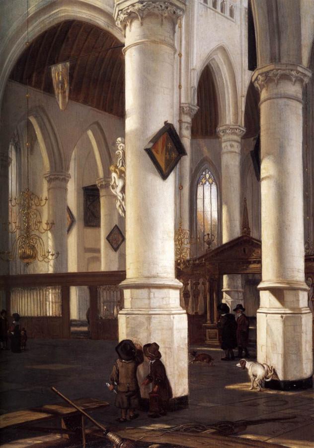 8 Emanuel_de_Witte_-_Interior_of_the_Oude_Kerk,_Delft