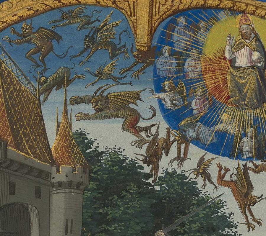 12 Низвержение мятежных ангелов Париж 16 век