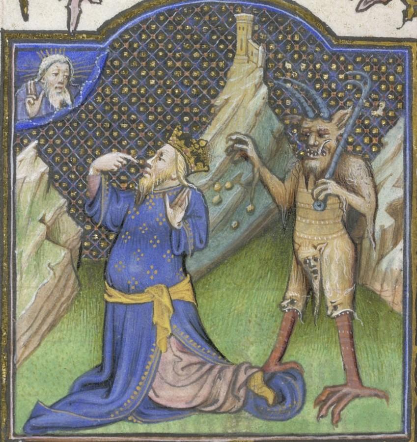 11 Сатана и царь Давид Требник Иоанна Бесстрашного и Маргариты Баварской 1420-е