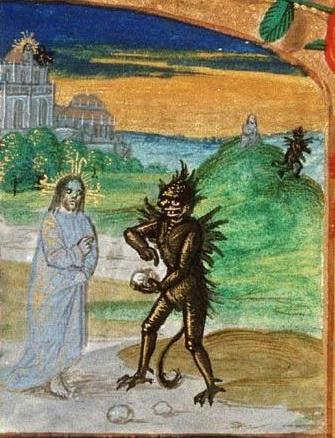 13 Искушение Голландский молитвослов 15 века