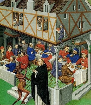 Дьявол искушает монаха ср 15 век Антуан Ролен