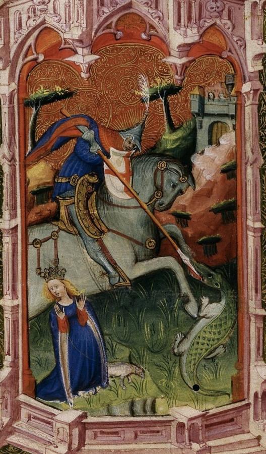 Св. Георги и змей 15 век