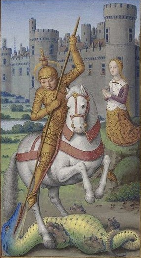 Св. Георгий Доминиканский часослов 14-15 век