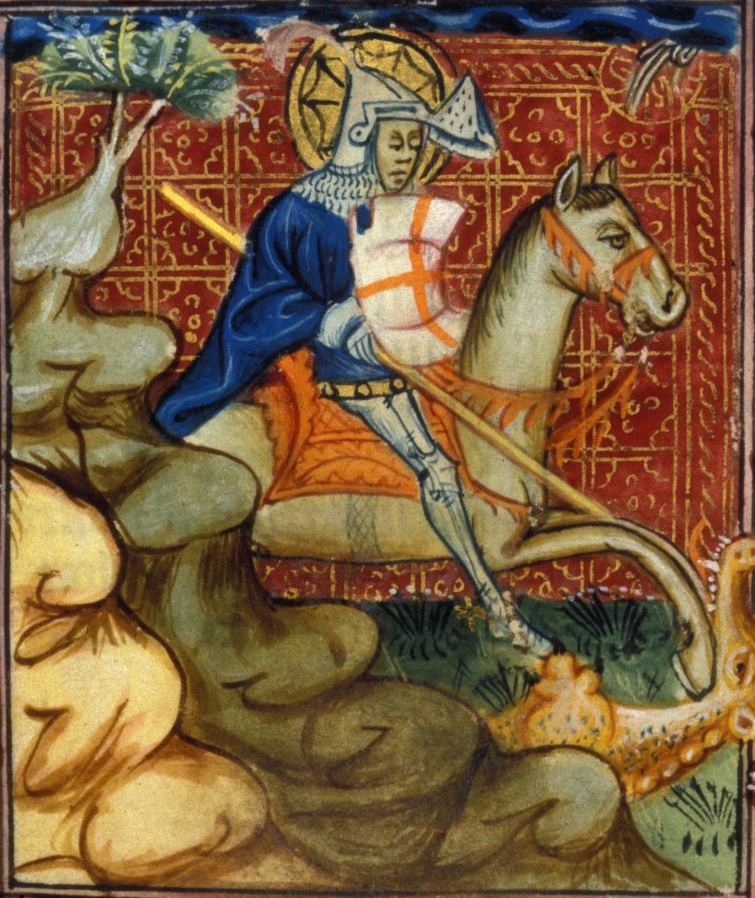 Св. Георгий Часослов Сарумски 15 век