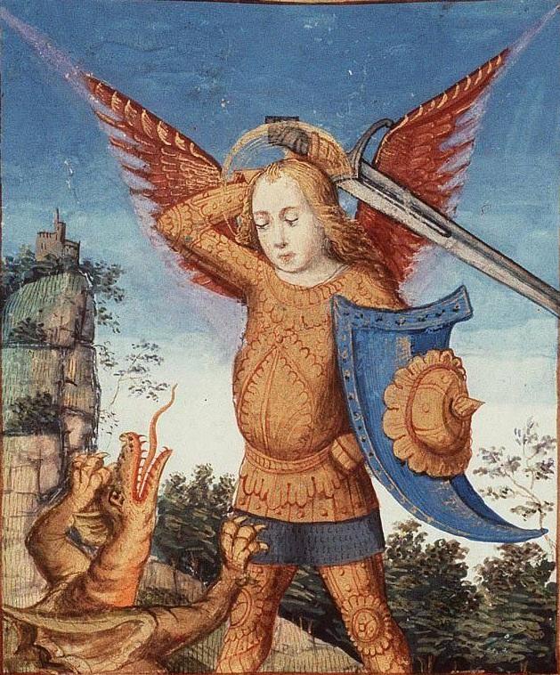 Св. Михаил и Дракон 15 век, Париж
