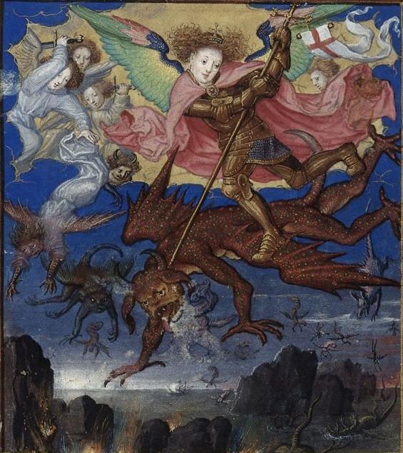 Св. Михаил и Люцифер Англия 16 век