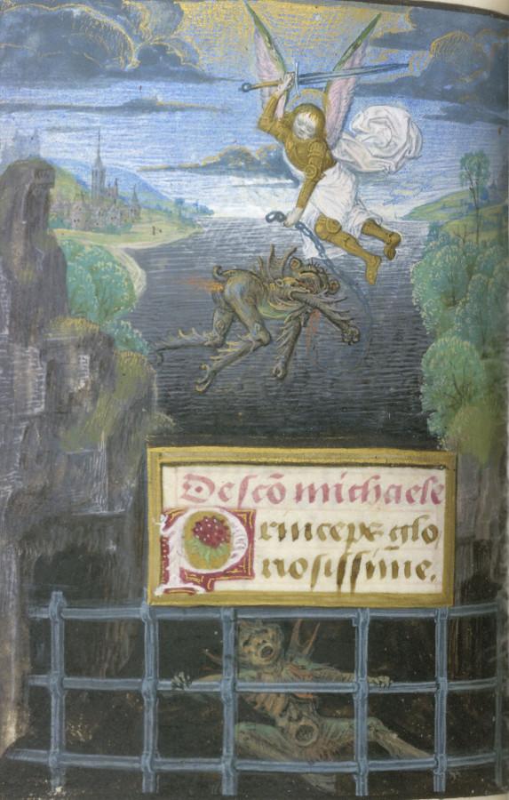 Св. Михаил и Люцифер Брюгге 15 век