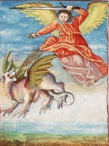 Св. Михаил побеждает дракона 15 Англия