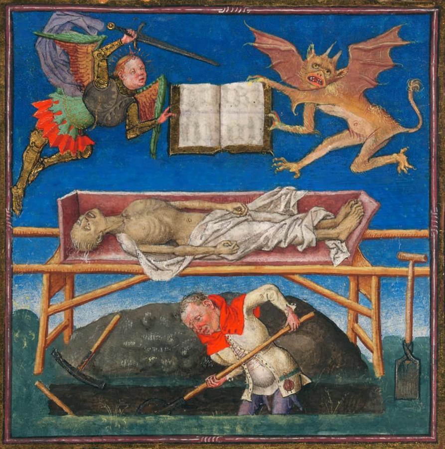 Св. Михаил Сражение за душу Германия 15 век