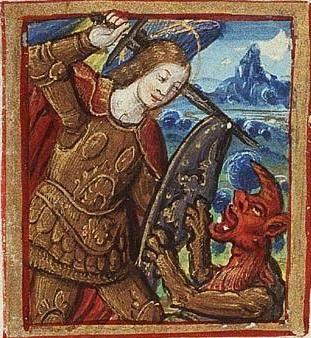 Св. Михаил убивает дракона 1500 Париж