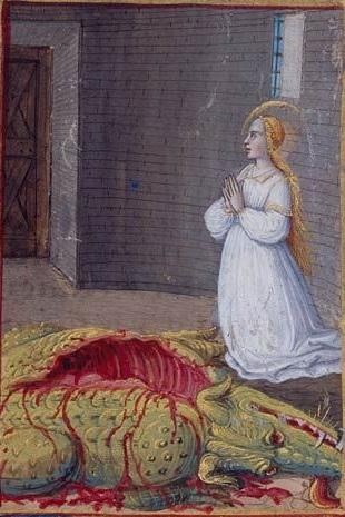 Св. Маргарита Молитвослов Анны Британской, Франц 15 век