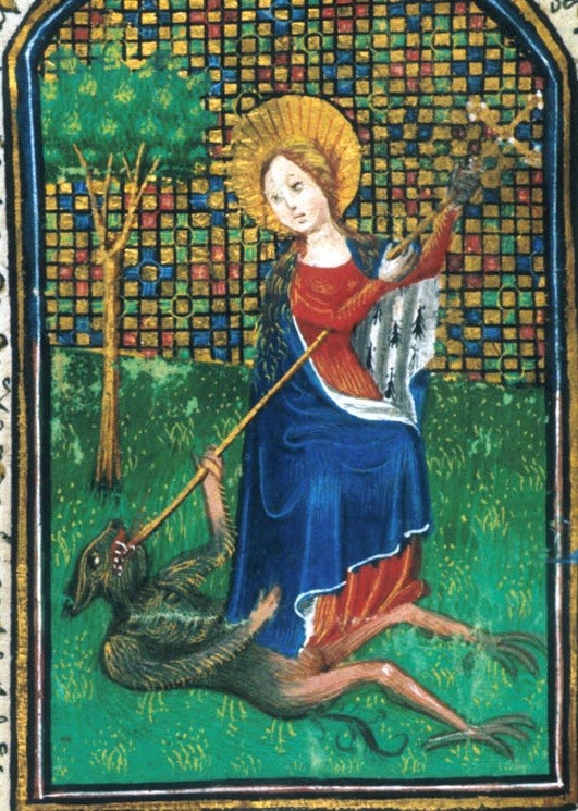Св. Маргарита, часослов исп. в Саруме 15 век