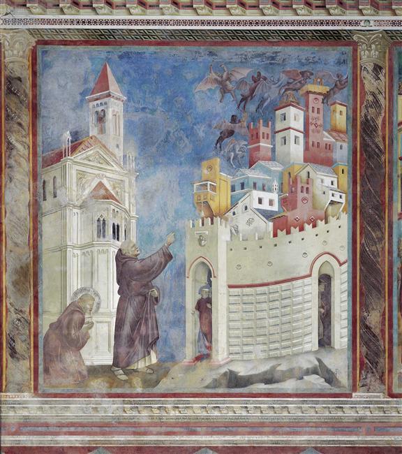 Св. Франциск Асизский изгоняет демонов из Ареццо