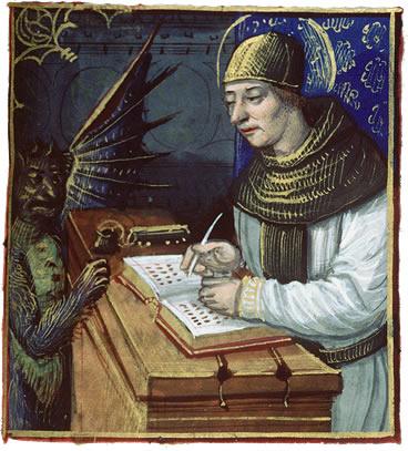 Демон Титувилус заставляющий монахов-писцов деать ошибки