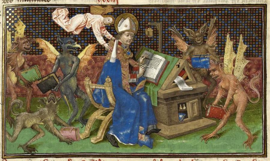 Блаженный Августин Часослов Катерины Клевской 15 век