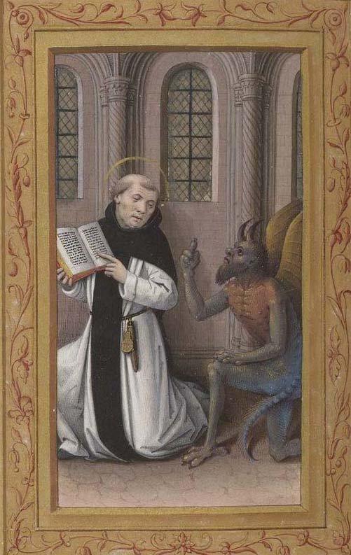 Св. Бернар и дьявол 15 век Франция