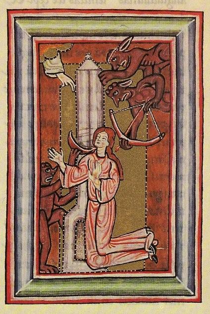 Св. Хильдегард и демоны 13 век