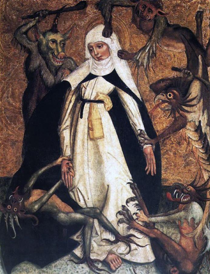 Св. Катерина Сиенская осаждаемая демонами