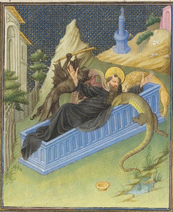 Св. Антоний Беррийский часосслов 1410-е