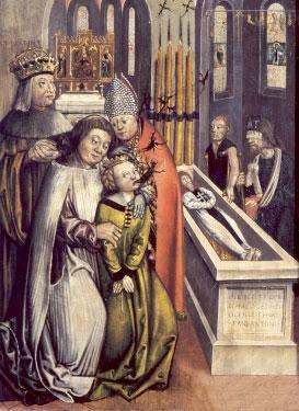 Св. Антоний Чуудо на могиле св. Антония