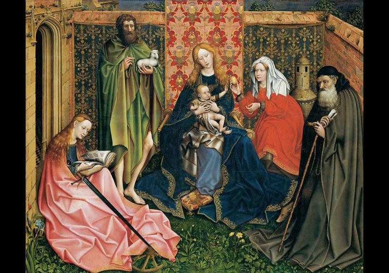 жак Даре Master_Хортус Конклузус_Madonna_and_Child_with_Saints_in_the_Enclosed_Garden