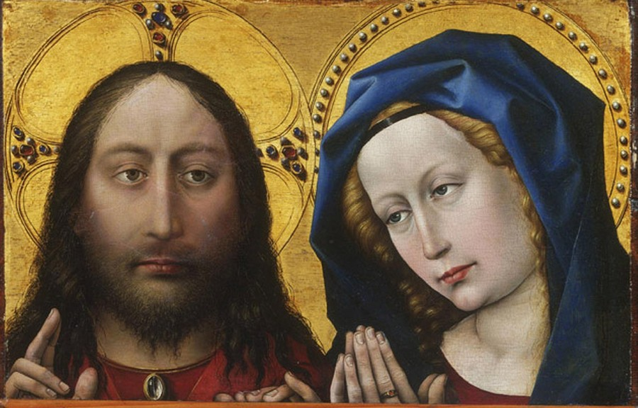 Campin,_Robert_—_Blessing_Christ_and_Praying_Virgin_—_c._1425