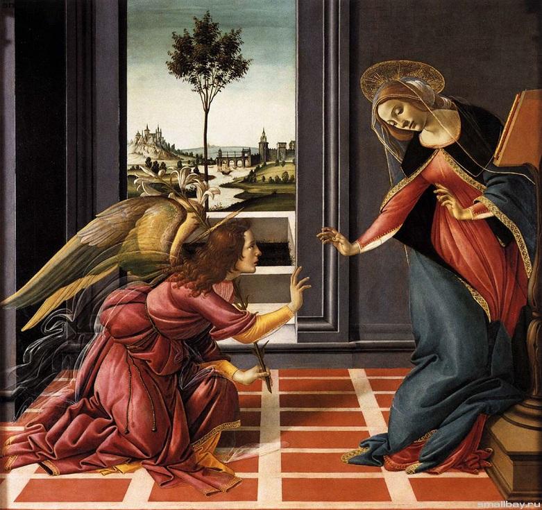 Благовещение Честелло Боттичелли 1489-90