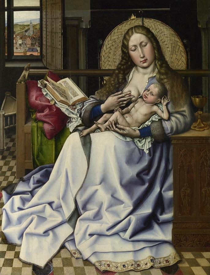 1430 Мадонна с младенцем перед каминным экраном