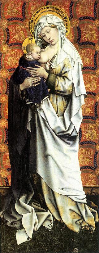 1425 Мадонна с младенцем Флемальский алтар
