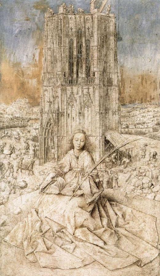 Jan_van_Eyck_-_St_Barbara_- незаконч
